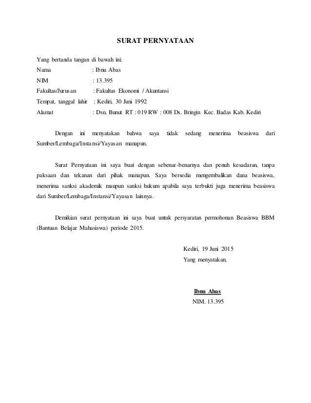 28++ Contoh surat pernyataan bermaterai tidak menerima beasiswa dari manapun terbaru terbaru