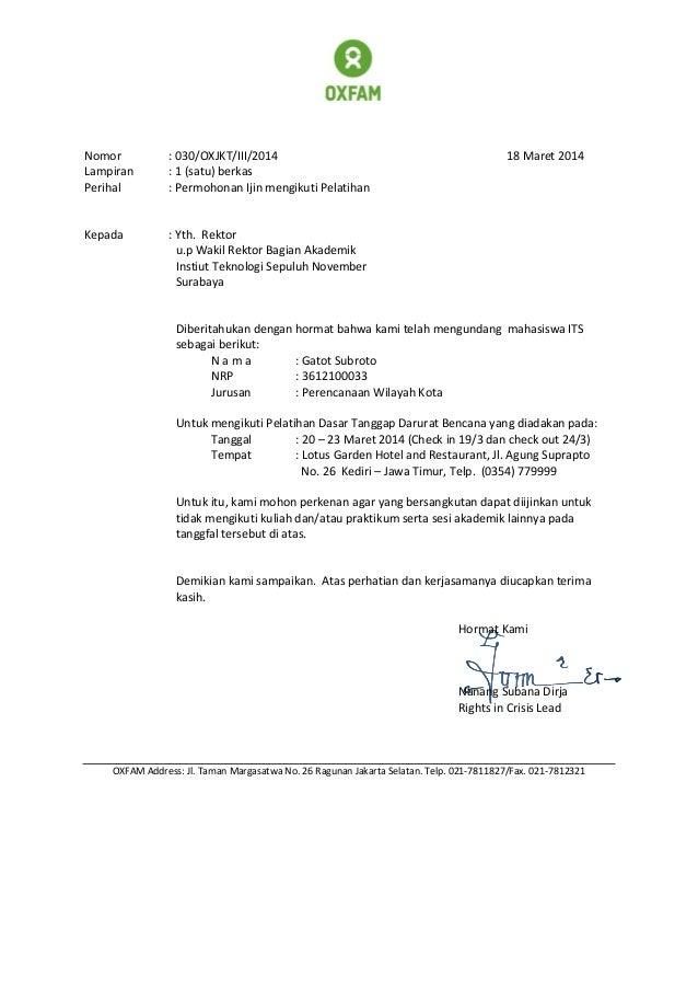 Surat Permohonan Ijin