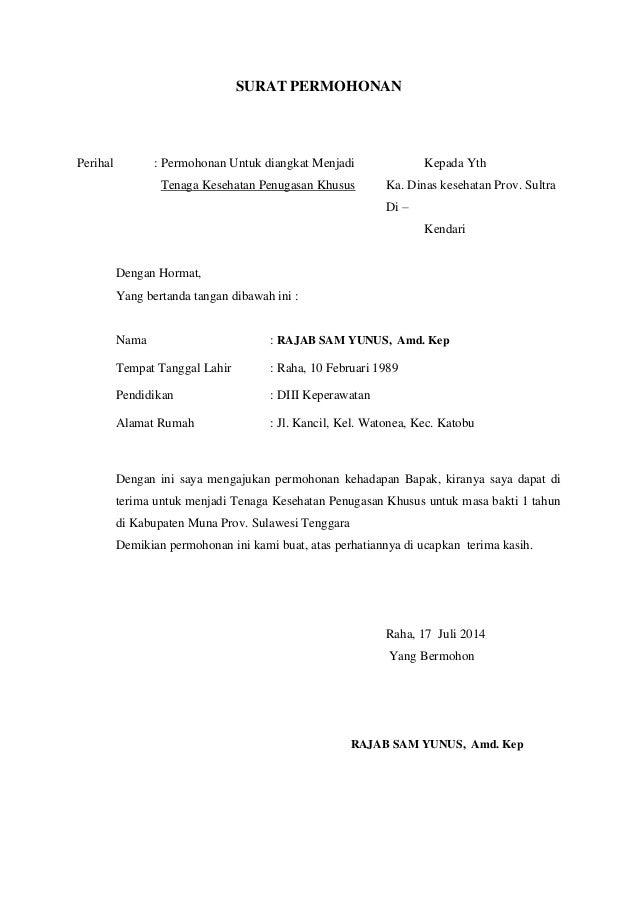 Surat Permohonan Kerja Di Puskesmas - Gong Shim j