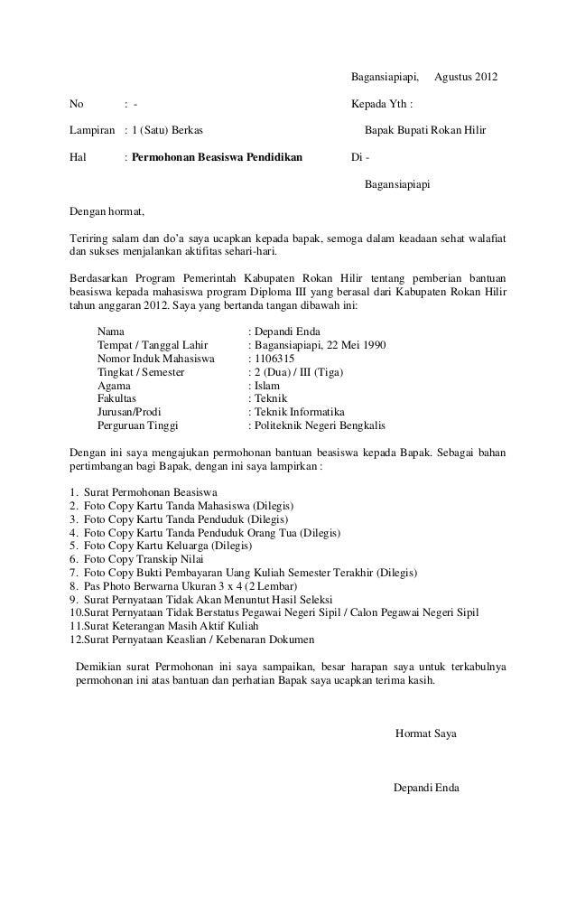 Surat Pernyataan Depandi