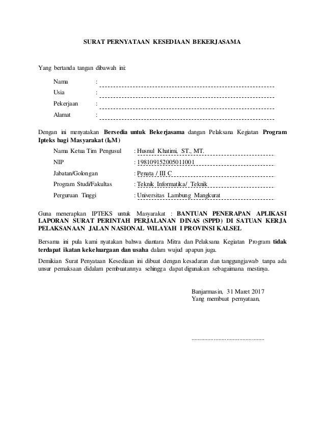 Contoh Surat Perjanjian Kerjasama Mitra Bisnis