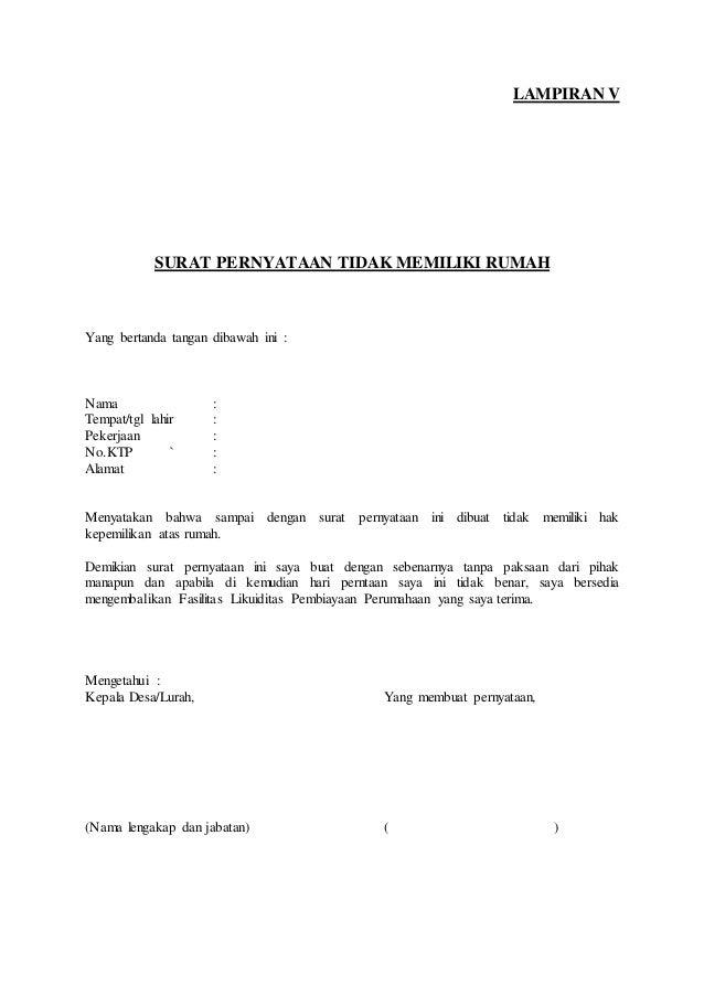 Surat Pernyataan Penghasilan