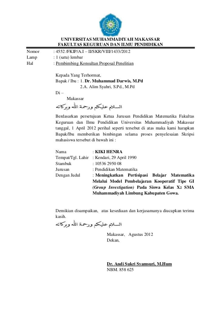 Contoh Surat Pernyataan Dari Wali Murid