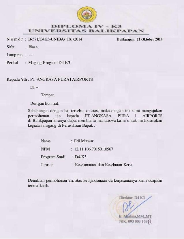Surat rekomendasi pkl