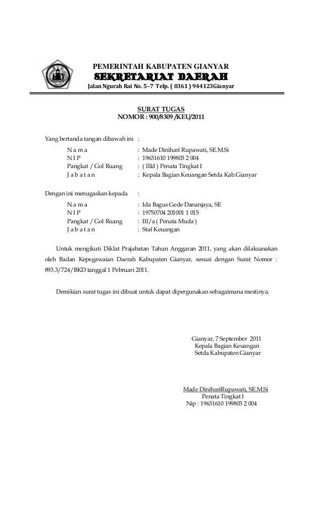 contoh surat izin tugas kantor surat 27