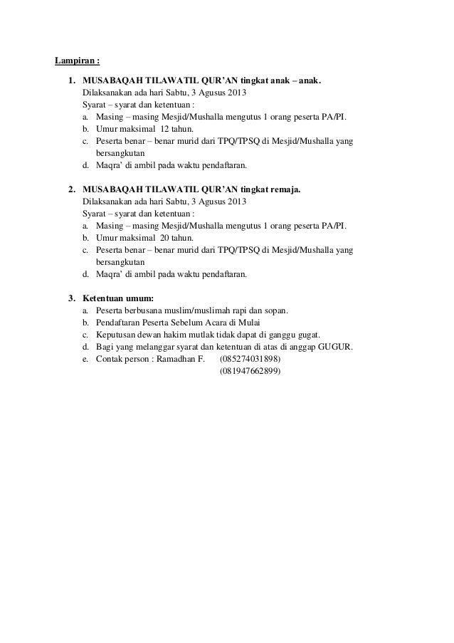 Surat Undangan Mtq