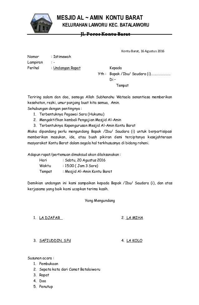 Contoh Undangan Gotong Royong Guru Paud