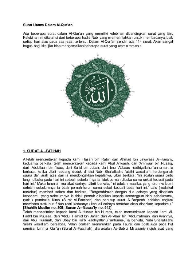 Surat Utama Al Quran