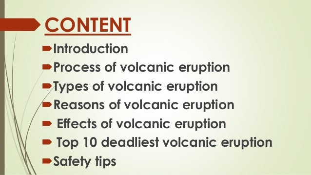 cause and effect essay on volcanoes