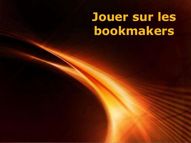 Page 1 Jouer sur les bookmakers