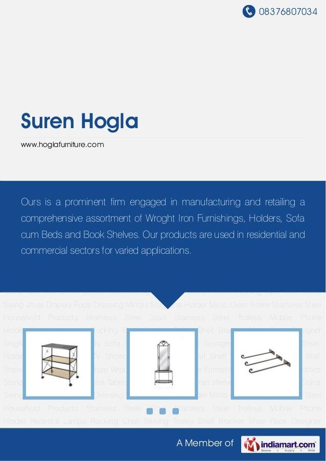 08376807034A Member ofSuren Hoglawww.hoglafurniture.comWrought Iron Furniture Wrought Iron Tables Home Furnishings Book Sh...