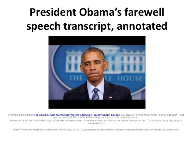 president obama farewell speech pdf