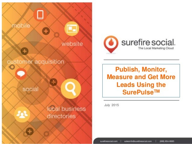Publish, Monitor, Measure and Get More Leads Using the SurePulseTM July 2015