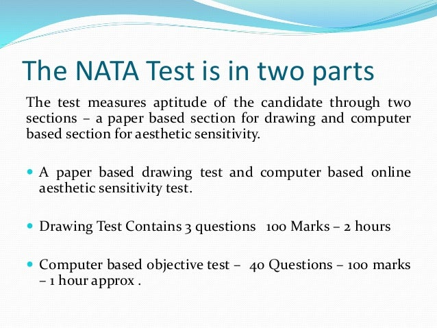 Nata aesthetic sensitivity sample papers with answers.