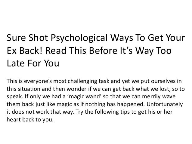 How to win his heart back psychology