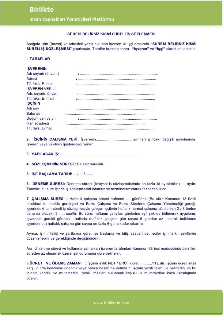 Birlikte Platformu  İnsan Kaynakları Yöneticileri Platformu                                   SÜRESİ BELİRSİZ KISMİ SÜRELİ...
