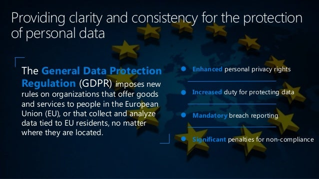 Personal privacy What are the key changes with the GDPR? Controls and notifications Transparent policies IT and training N...