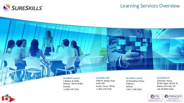 Learning Services Overview  SureSkills Canada 1 Rideau St #700, Ottawa, ON K1N 8S7, Canada +1 855 278 7555  SureSkills USA...