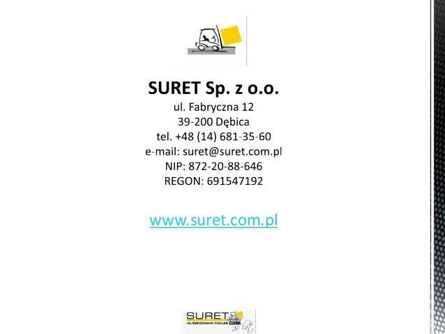 Suret - Lider obsługi transportu wewnętrznego