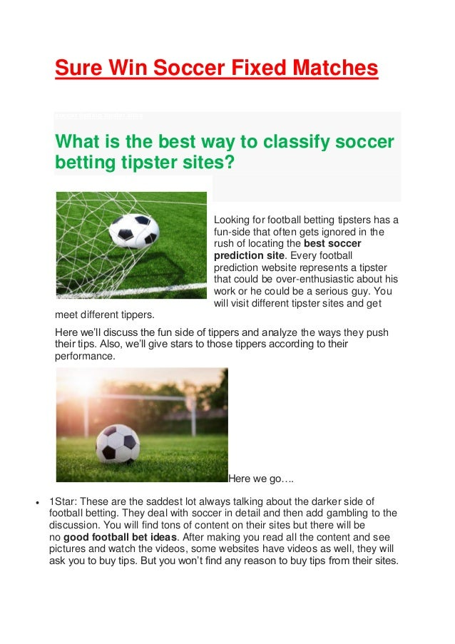 Soccer betting tipster sports betting parlay definition dictionary