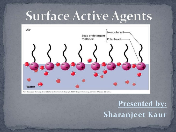 Surface Active Agents<br />Presented by: <br />Sharanjeet Kaur<br />