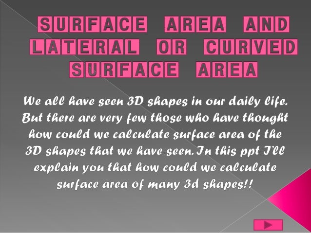 This shows that the outer surface of a cube is made up of six squares but in fact they are the faces of cube. So, Surface ...