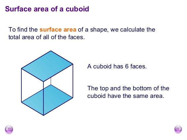 surface area and volume of cuboids. Black Bedroom Furniture Sets. Home Design Ideas