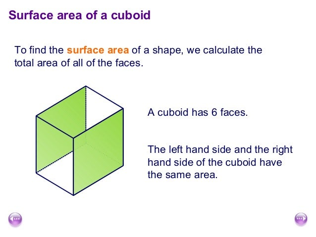 Surface area and volume of cuboids surface area of a cuboidto find ccuart Choice Image