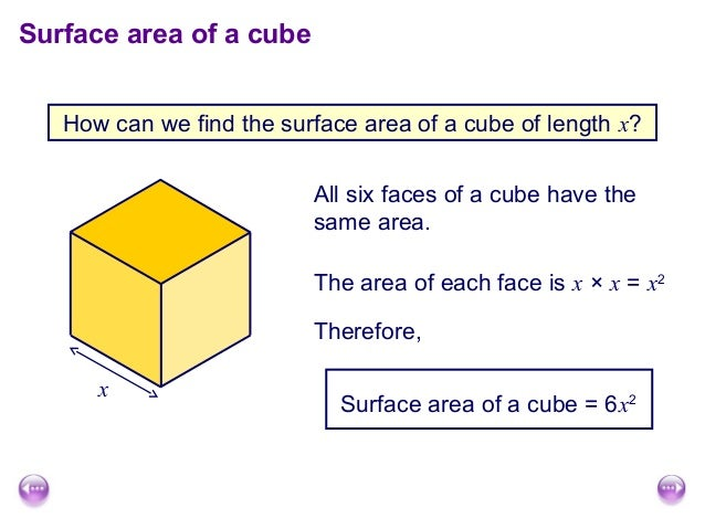 Surface area and volume of cuboids surface area of a cube how can we find ccuart Choice Image