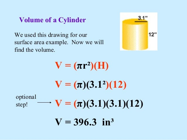 Volume of cylinders (solutions, worksheets, videos, examples).