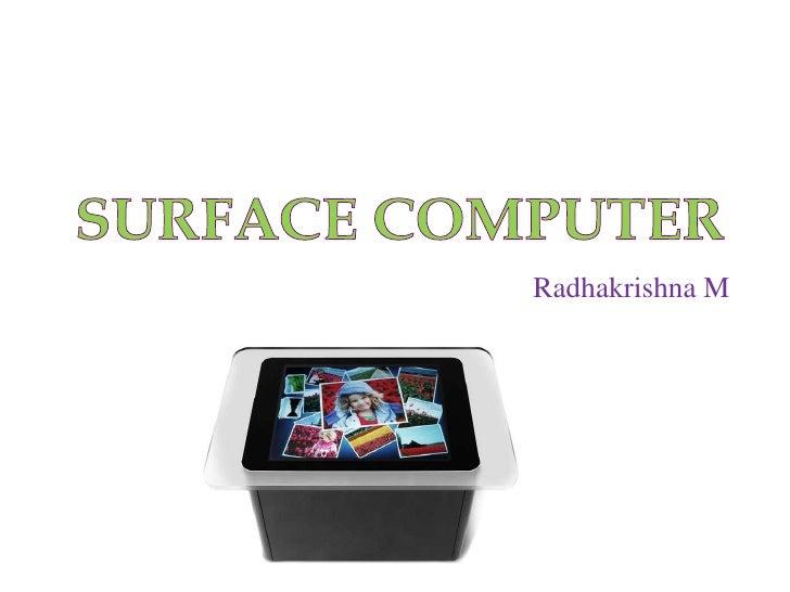 Radhakrishna M
