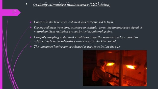 Optically stimulated luminescence dating definition