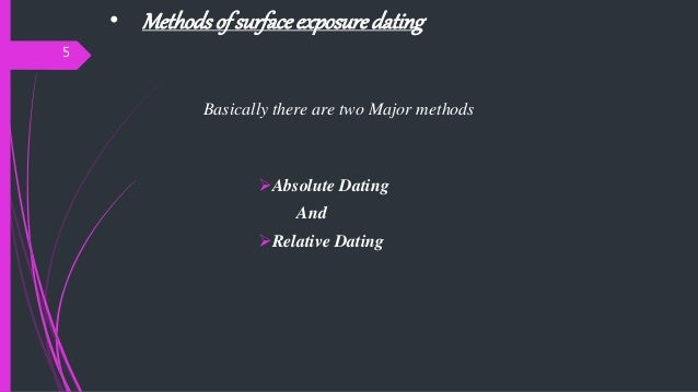 Surface exposure dating
