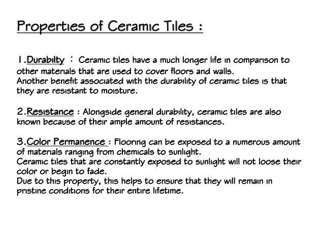 Excellent Ceramic Tiles Properties Images - Simple Design Home ...