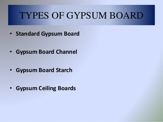 Types Of Gypsum Board : Gypsum board internal finish
