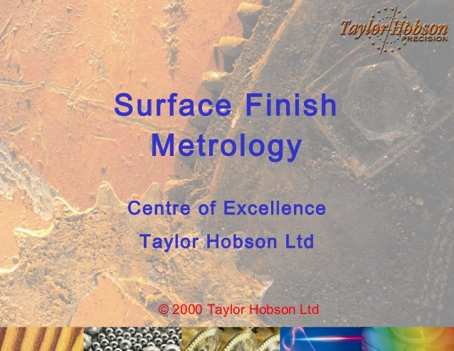 Surface Finish Metrology Iss1