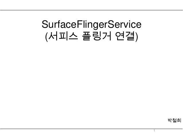 SurfaceFlingerService(서피스 플링거 연결)                            박철희                        1