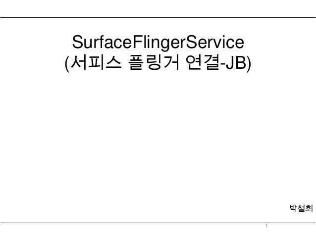 SurfaceFlingerService(서피스 플링거 연결-JB)                             박철희                         1