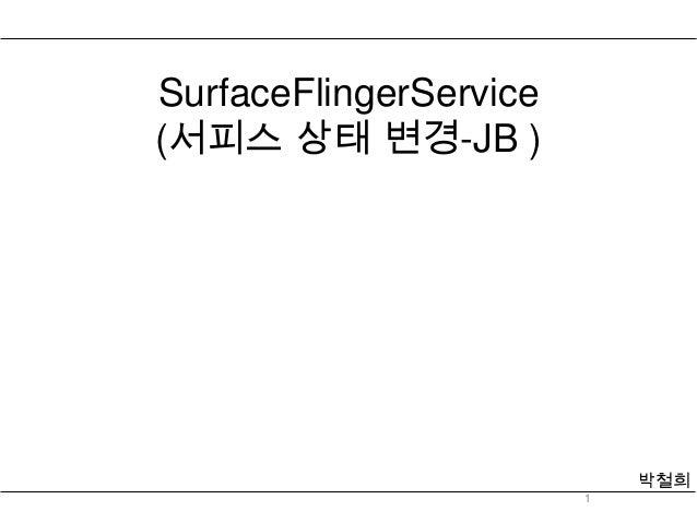 SurfaceFlingerService(서피스 상태 변경-JB )                            박철희                        1