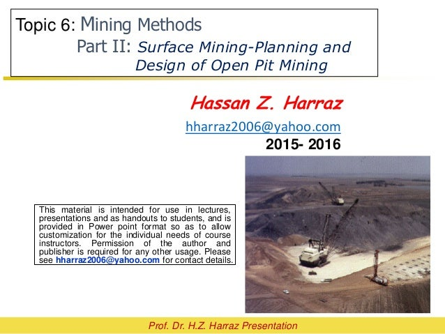 Open Pit Mine Planning And Design T Score Table For Ecbi