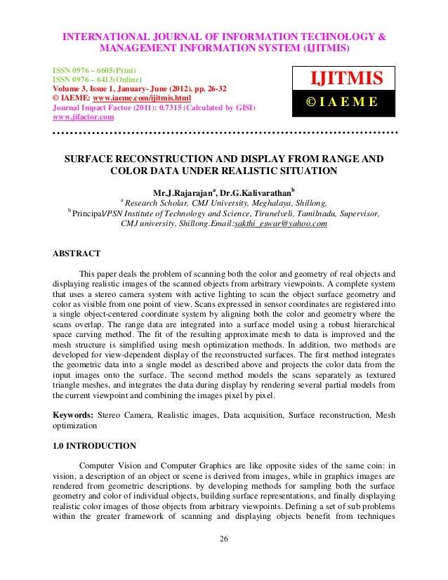 International Journal of Information Technology & Management Information TECHNOLOGY &   INTERNATIONAL JOURNAL OF INFORMATI...