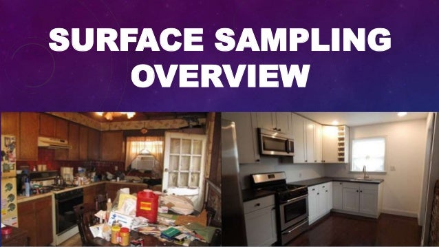 SURFACE SAMPLING OVERVIEW