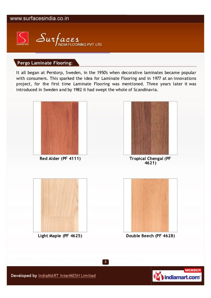 Surfaces India Flooring Pvt Ltd Mumbai Pergo Laminate