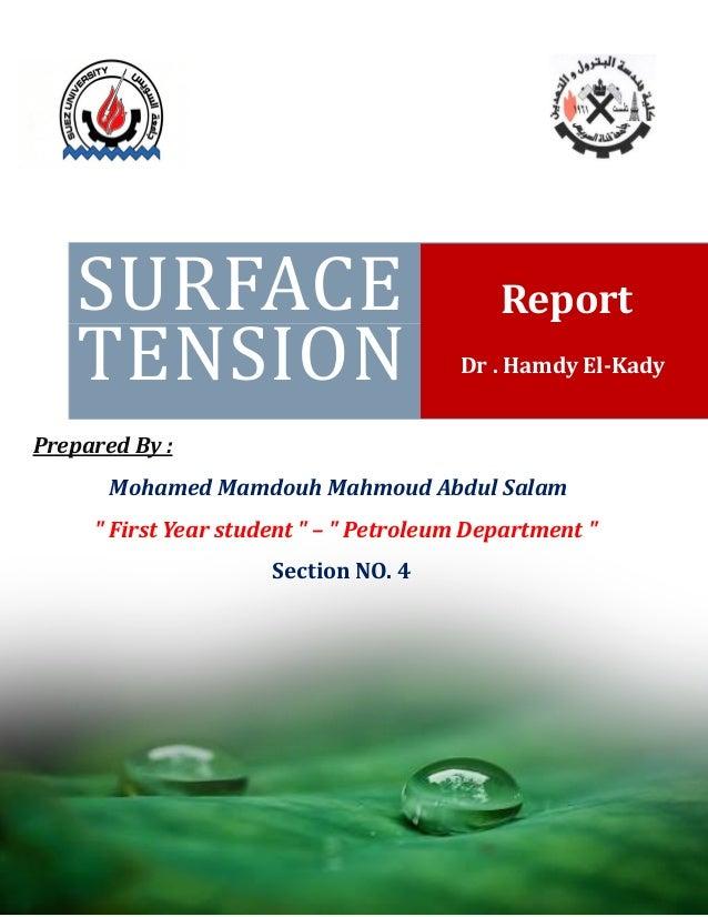 Surface Tension ( Definition + Measurement )