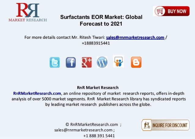 the global market for biosurfactants Biosurfactants market is likely to generate over usd 27 billion by 2024 according to a new research report by global market insights, inc rise in demand for biosurfactants in various.
