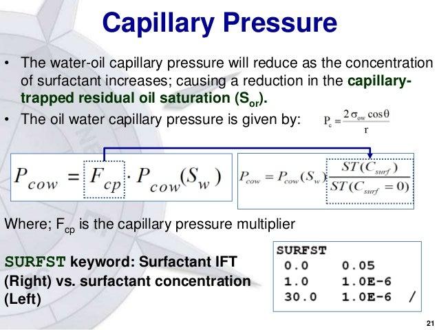 Surfactant Flooding Reservoir Simulation
