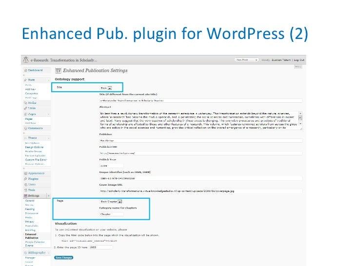 Enhanced Pub. plugin for WordPress (2)