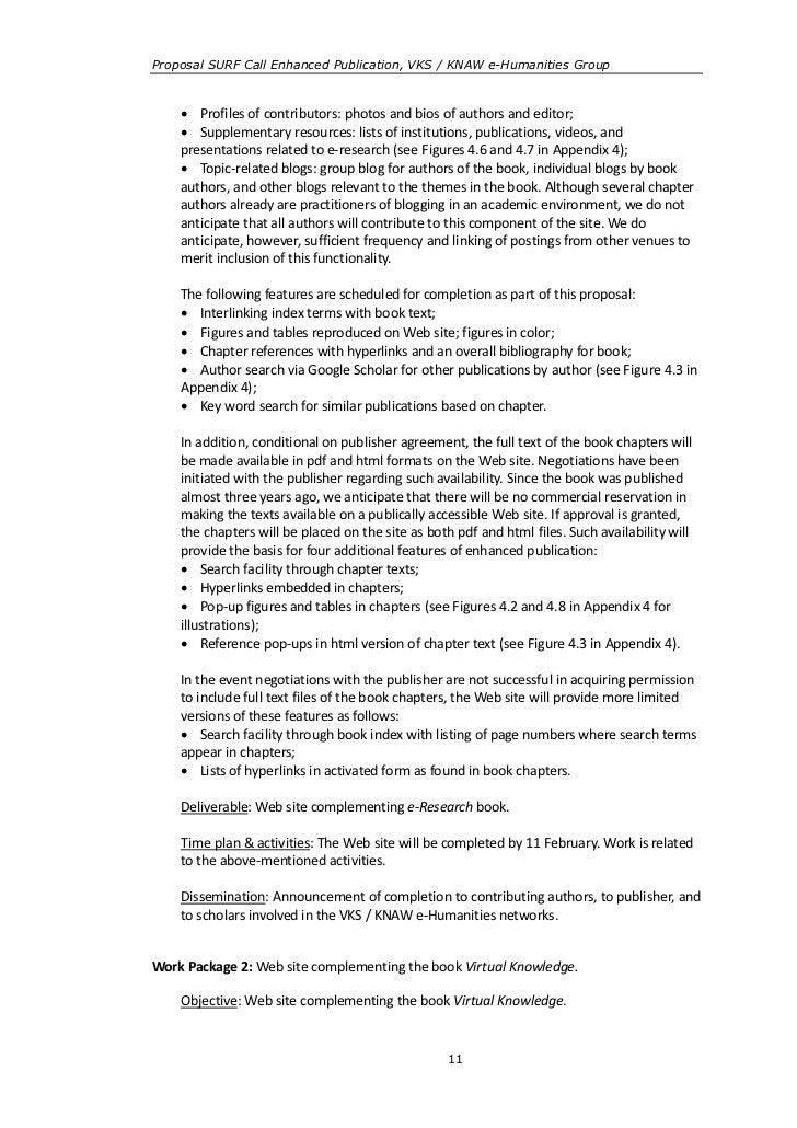 Proposal SURF Call Enhanced Publication, VKS / KNAW e-Humanities Group     Profiles of contributors: photos and bios of a...