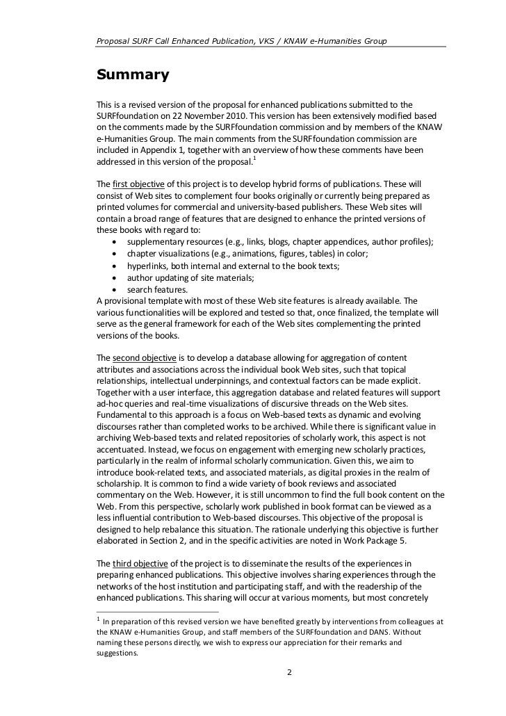 Proposal SURF Call Enhanced Publication, VKS / KNAW e-Humanities GroupSummaryThis is a revised version of the proposal for...