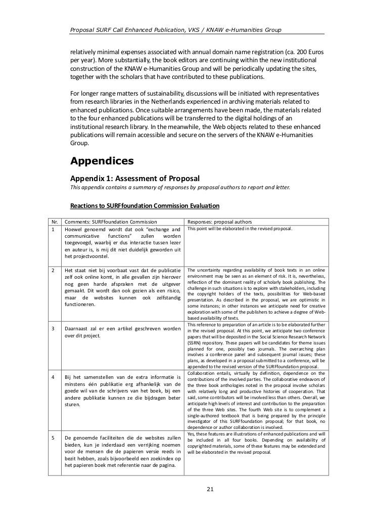 Proposal SURF Call Enhanced Publication, VKS / KNAW e-Humanities Group        relatively minimal expenses associated with ...